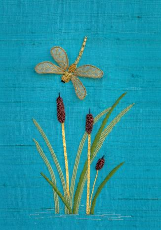 Dragonfly with Cattails